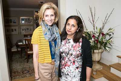 Katherine Bradley, Meena Ahamed. Book Party for Dr. Vali Nasr's The Dispensable Nation. Liaquat and Meena Ahamed Residence. May 14, 2013.