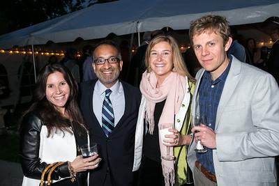 Julie Schlosser, Rajiv Chandrasekran, Rikki Schmidle, Nicholas Schmidle. Book Party for Dr. Vali Nasr's The Dispensable Nation. Liaquat and Meena Ahamed Residence. May 14, 2013.
