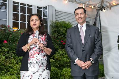 Meena Ahamed, Vali Nasr. Book Party for Dr. Vali Nasr's The Dispensable Nation. Liaquat and Meena Ahamed Residence. May 14, 2013.