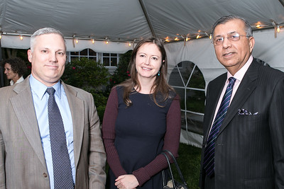 Joel Rayburn, Clare Lockhart, Shuja Nawaz. Book Party for Dr. Vali Nasr's The Dispensable Nation. Liaquat and Meena Ahamed Residence. May 14, 2013