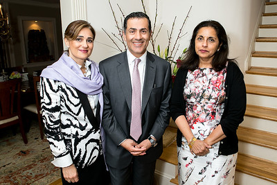 Darya Nasr, Vali Nasr, Meena Ahamed. Book Party for Dr. Vali Nasr's The Dispensable Nation. Liaquat and Meena Ahamed Residence. May 14, 2013