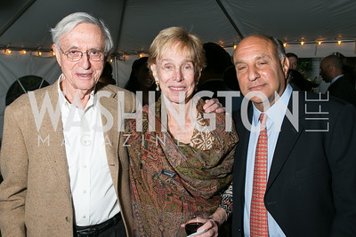 Stanley Rapoport, Judy Rapoport, Alan Platt. Book Party for Dr. Vali Nasr's The Dispensable Nation. Liaquat and Meena Ahamed Residence. May 14, 2013