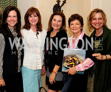 Kim Nettles,DorisDixonCathy Gildenhorn,Pamela Ginsburg,Kathy Wenger,April 30,2013,Book Party for Jenn Crovato's '' Olive Oil,Sea Salt and Pepper ''at the Fernandez Residence,Kyle Samperton