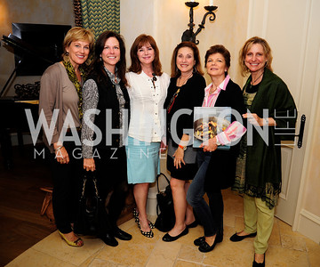Marcy Cohen,Kim Nettles,DorisDixonCathy Gildenhorn,Pamela Ginsburg,Kathy Wenger,April 30,2013,Book Party for Jenn Crovato's '' Olive Oil,Sea Salt and Pepper ''at the Fernandez Residence,Kyle Samperton