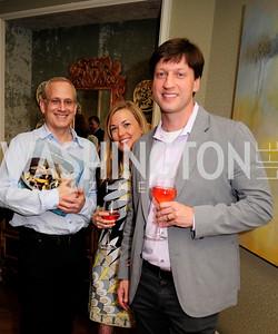 Richard Gottlieb,Catherine Hailey,Michael Babin,April 30,2013,Book Party for Jenn Crovato's '' Olive Oil,Sea Salt and Pepper ''at the Fernandez Residence,Kyle Samperton