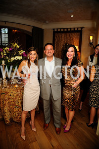 Karen Donatelli,Raul Fernandez,Jennifer Whipp,April 30,2013,Book Party for Jenn Crovato's '' Olive Oil,Sea Salt and Pepper ''at the Fernandez Residence,Kyle Samperton