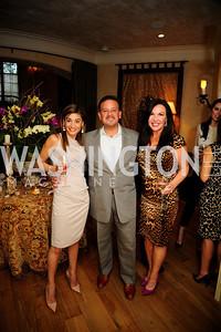 Karen Donatelli,Raul Fernandez,Jennifer Whipp,April 30,2013,Book Party for Jenn Crovato's '' Olive Oil,Sea Salt and Pepper ''at the Fernandez Residence,Kyle Samperton