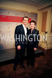 Lt.Gov.Gavin Newsom, Ellen Tauscher,February 15,2013,Book Party for Lt.Gov.Gavin Newsom's ''Citizenville ''at The Jefferson Hotel,Kyle Samperton