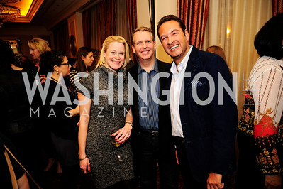 Anne Steckel,Brett Frazier,Marc Adleman, February 15,2013,Book Party for Lt.Gov.Gavin Newsom's ''Citizenville ''at The Jefferson Hotel,Kyle Samperton