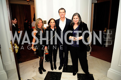Eve O'Toole, Melissa Moss,Lt.Gov.Gavin Newsom,Mandy Grunwald,February 15,2013,Book Party for Lt.Gov.Gavin Newsom's ''Citizenville ''at The Jefferson Hotel,Kyle Samperton
