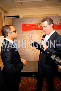 Jonathan Capehart,Lt.Gov.Gavin Newsom,February 15,2013,Book Party for Lt.Gov.Gavin Newsom's ''Citizenville ''at The Jefferson Hotel,Kyle Samperton