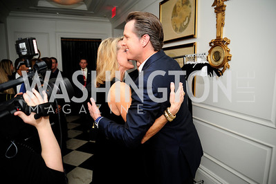 Elizabeth Bagley, Lt.Gov.Gavin Newsom,February 15,2013,Book Party for Lt.Gov.Gavin Newsom's ''Citizenville ''at The Jefferson Hotel,Kyle Samperton