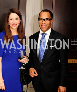 Mary Katherine Steel,Jonathan Capehart,February 15,2013,Book Party for Lt.Gov.Gavin Newsom's ''Citizenville ''at The Jefferson Hotel,Kyle Samperton