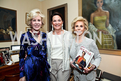 Ann Nitze, Grace Bender, Wilma Bernstein. Photo by Tony Powell. Lucky Roosevelt book party for Marie Arana. April 23, 2013