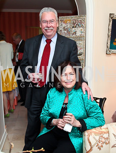 Don and Jane Podesta. Photo by Tony Powell. Lucky Roosevelt book party for Marie Arana. April 23, 2013