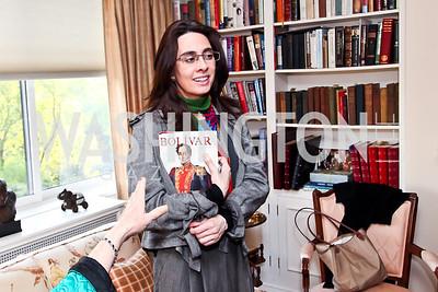 Catalina Botero. Photo by Tony Powell. Lucky Roosevelt book party for Marie Arana. April 23, 2013