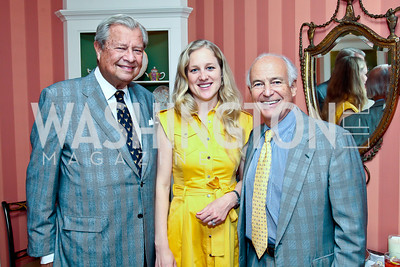 Julio Heurtematte, Clara Brillembourg Chopivsky, Robert Craft. Photo by Tony Powell. Lucky Roosevelt book party for Marie Arana. April 23, 2013