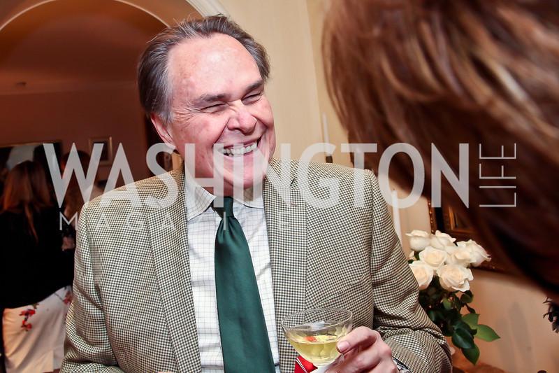 Peruvian Amb. Harold Forsythe. Photo by Tony Powell. Lucky Roosevelt book party for Marie Arana. April 23, 2013