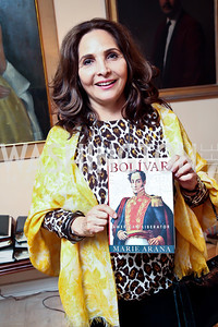 Samia Farouki. Photo by Tony Powell. Lucky Roosevelt book party for Marie Arana. April 23, 2013