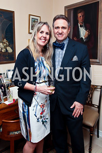 Isabel Ernst, Arturo Brillembourg. Photo by Tony Powell. Lucky Roosevelt book party for Marie Arana. April 23, 2013