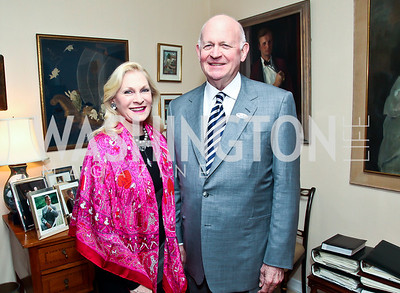 Susan and Michael Pillsbury. Photo by Tony Powell. Lucky Roosevelt book party for Marie Arana. April 23, 2013
