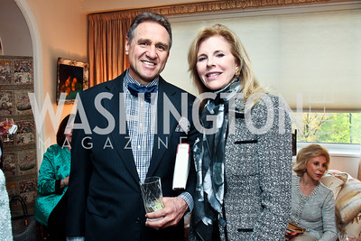 Arturo Brillembourg, Jane Cafritz. Photo by Tony Powell. Lucky Roosevelt book party for Marie Arana. April 23, 2013