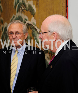 Former Sec.of Def.Donald Rumsfeld,   Former Vice Pres.Dick Cheney, May 7,2013, Book Party for'' Rumsfelds Rules''Kyle Samperton