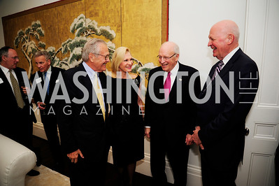 Former Sec.Of Def.Donald Rumsfeld,Susan Pillsbury,Former Vice -Pres.Dick Cheney,Michael Pillsbury,May 7,2013, Book Party for'' Rumsfelds Rules''Kyle Samperton
