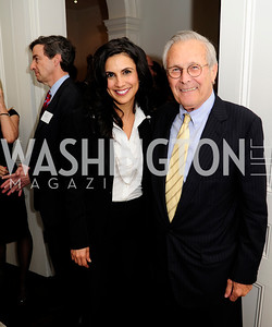 David  Epstein,Majida Mourad,Former Sec.of Def.Donald Rumsfeld. May 7,2013, Book Party for'' Rumsfelds Rules''Kyle Samperton
