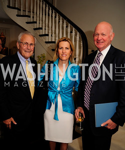 Former Sec.of Def.Donald Rumsfeld, Laura Ingraham,Michael Pillsbury May 7,2013, Book Party for'' Rumsfelds Rules''Kyle Samperton