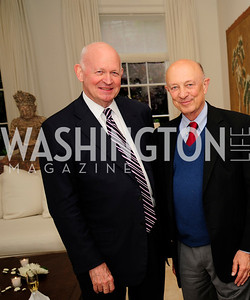 Michael Pillsbury,Jim  Woolsey, May 7,2013, Book Party for'' Rumsfelds Rules''Kyle Samperton