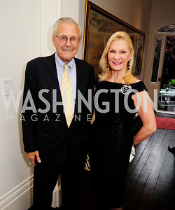 Former Sec.of Def.Donald Rumsfeld,  Susan Pillsbury, May 7,2013, Book Party for'' Rumsfelds Rules''Kyle Samperton