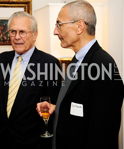 Former Sec.of Def.Donald Rumsfeld,  John Podesta, May 7,2013, Book Party for'' Rumsfelds Rules''Kyle Samperton