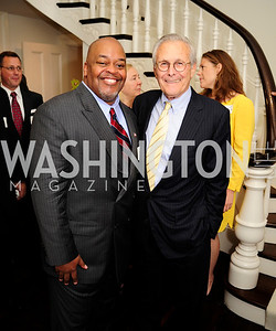 Niger Innis,Former Sec.of Def.Donald Rumsfeld, May 7,2013, Book Party for'' Rumsfelds Rules''Kyle Samperton