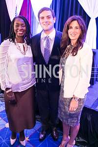 Rynthia Rost, Luke Russert, Michelle Freeman. Photo by Alfredo Flores. Boys and Girls Club of Greater Washington Tim Russert Dinner. JW Marriott. May 22, 2013