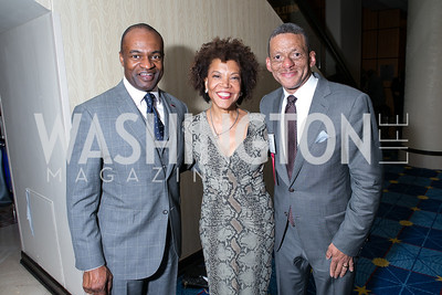 DeMaurice Smith, Pandit Wright, Stanley Porter. Photo by Alfredo Flores. Boys and Girls Club of Greater Washington Tim Russert Dinner. JW Marriott. May 22, 2013