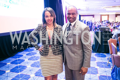 Kim Watson, DeMaurice Smith. Photo by Alfredo Flores. Boys and Girls Club of Greater Washington Tim Russert Dinner. JW Marriott. May 22, 2013
