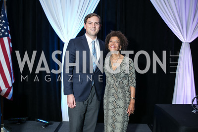 Luke Russert, Pandit Wright. Photo by Alfredo Flores. Boys and Girls Club of Greater Washington Tim Russert Dinner. JW Marriott. May 22, 2013