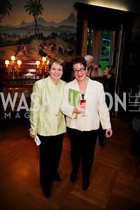 Marin Alsop,Molly Smith.  May 9,2013,Bravo Reception at The Residence of The Ambassdor of Brazil.Kyle Samperton