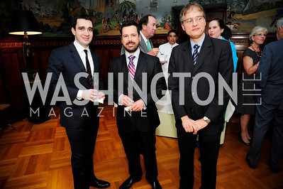 Raphael Tosti,Pedro Saldanha,Benini Belli ,  May 9,2013,Bravo Reception at The Residence of The Ambassdor of Brazil.Kyle Samperton