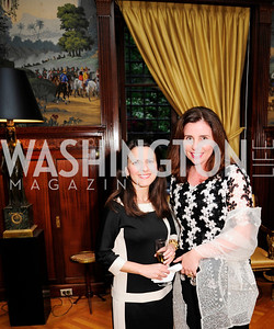 Fabiola Saldanha, Claudia Peixoto May 9,2013,Bravo Reception at The Residence of The Ambassdor of Brazil.Kyle Samperton