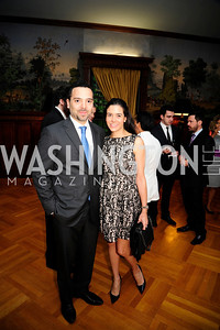Pablo Bentes,Camilla Sant'Anno ,  May 9,2013,Bravo Reception at The Residence of The Ambassdor of Brazil.Kyle Samperton