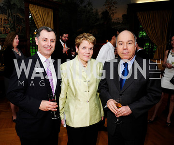 Paul Meecham,Marin Alsop,Brazilian Amb.Mauro Viera,  May 9,2013,Bravo Reception at The Residence of The Ambassdor of Brazil.Kyle Samperton
