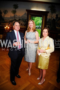 Hillary Miller,Kate Bent,Barbara Bozzuto ,  May 9,2013,Bravo Reception at The Residence of The Ambassdor of Brazil.Kyle Samperton
