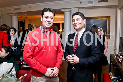 Najib and Shafi Sharifi. Photo by Tony Powell. Breast Cancer Fundraiser for Shinkai Karokhail. Residence of Nancy Brinker. December 17, 2013