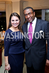 Lindsey de la Torre, Eric Motley. Photo by Tony Powell. Breast Cancer Fundraiser for Shinkai Karokhail. Residence of Nancy Brinker. December 17, 2013