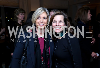 Susan Sonley, Wendy Carter. Photo by Tony Powell. Breast Cancer Fundraiser for Shinkai Karokhail. Residence of Nancy Brinker. December 17, 2013