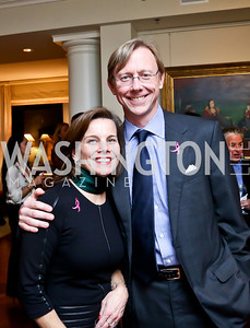 Wendy Carter, Brian Hook. Photo by Tony Powell. Breast Cancer Fundraiser for Shinkai Karokhail. Residence of Nancy Brinker. December 17, 2013