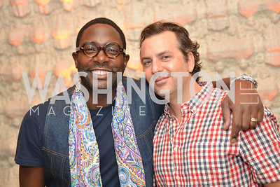 Andre Wells, Michael Clements, Sunday Party Brunch hosted by Andre Wells and Alan Popovsky.  Teddy's Bully Bar, Sunday October 6, 2013.  Photo by Ben Droz.