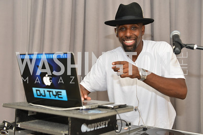 DJ The, Black Hat Solutions, Sunday Party Brunch hosted by Andre Wells and Alan Popovsky.  Teddy's Bully Bar, Sunday October 6, 2013.  Photo by Ben Droz.